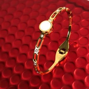 Rome stainless steel gold bangle